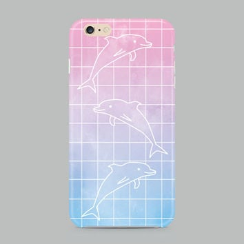 PASTEL DOLPHIN GRID iPhone 6s Case, hipster iPhone 6s case, cool iphone 6s case, cute iPhone 6s case, animal iphone 6s case, tumblr iphone