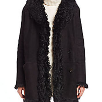 Theory - Abrienda Godford Shearling-Trim Jacket - Saks Fifth Avenue Mobile