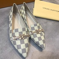 Louis Vuitton LV Women Fashion Pointed Toe Flats Shoes