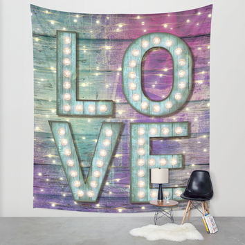 Love is the Light of Your Soul (LOVE lights III) Wall Tapestry by Soaring Anchor Designs