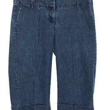 Gap Stretch Jean Capris Cuffed Back Flap Pockets Career Womens 10 Actual 31 X 19 - Preowned