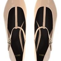 ASOS LEIGH Patent Ballet Flats with T-bar