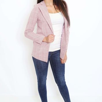 Tweed High Collar Blazer
