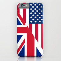 American and Union Jack Flag iPhone & iPod Case by Smyrna