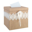Rustic Burlap Wedding Card Box