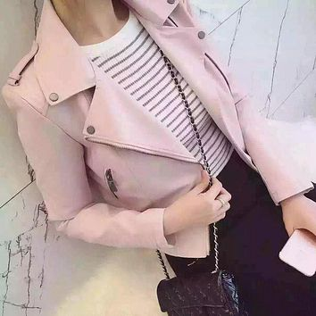 New Fashion Women Motorcycle Faux Soft Leather Jackets Female Winter Autumn Brown Black Coat Outwear Hot Sale