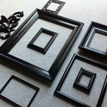 Vintage Black Frames Wall Sconce Funky Home Decor by FeFiFoFun