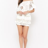 Sheer Geo Cutout Mini Dress
