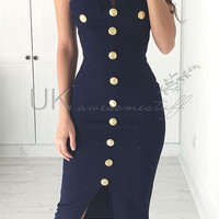 Button Down Bodycon Dress