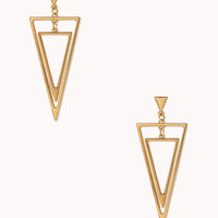 Art Deco Cutout Drop Earrings