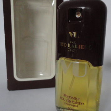 Vintage: Vu Ted Lapidus Atomiseur eau de toilette concentrated, 50ml, 1.7oz Full bottle incl. box, Rare!!!!!