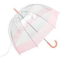 "All-Weather™ 42"" Pink and Clear Dome Umbrella"