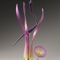 Lone Crane Amethyst by Warner Whitfield: Art Glass Sculpture | Artful Home
