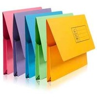 Pack 5 Brights Foolscap Document Wallets by Stationery | 279300200000S