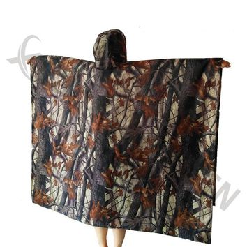 3in1 Outdoor Military Travel Camouflage Poncho Backpack Rain Cover wear Waterproof Mat Awning Hunting Camping Hike mats