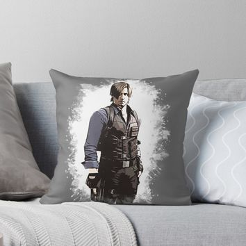 'A Tribute to LEON' Throw Pillow by Naumovski