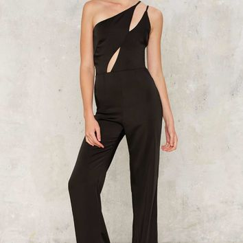 Oh My Love Hanging On Asymmetric Jumpsuit