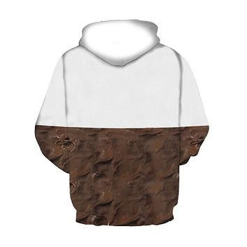 Pullovers 3D Sweatshirts Hoodies Women/Men Hoodie Print Nutella Food Hip Hop Casual Style Tops