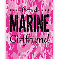 Premium Pink Camo Marine Military Girlfriend Camouflage Direct UV Printed iPhone 5 Quality Hard Snap On Case for iPhone 5/5s - AT&T Sprint Verizon - White Case