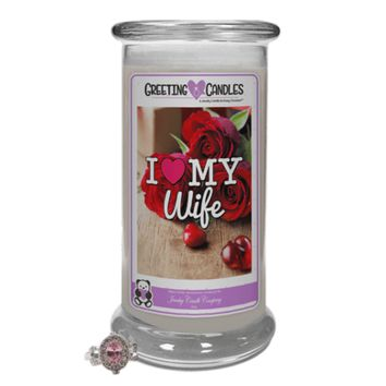 I Love My Wife | Jewelry Greeting Candles