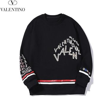 Victoria Autumn And Winter New Fashion More Letter Print Leisure Women Men Long Sleeve Top Sweater Black