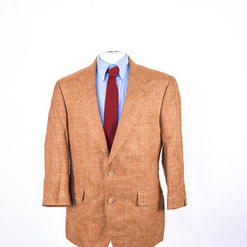 Used Men's Brooks Brothers Sport Coat | Brown Rust Color | Size 42 R | Two Button | Wool