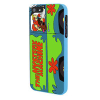 Mystery Machine Van Scooby Doo Design iPhone 5 Case Framed Blue