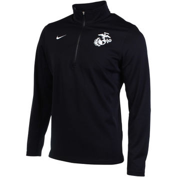United States Marine Corps Nike Training Quarter-Zip Performance Jacket – Black
