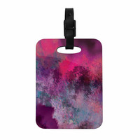 "Nina May ""Mineral Pink "" Purple Watercolor Decorative Luggage Tag"