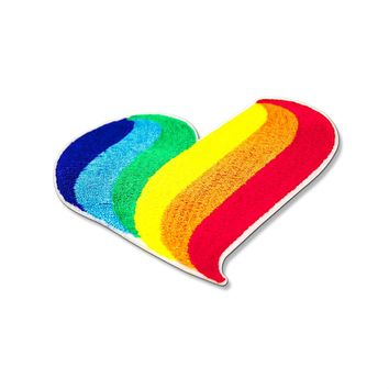 Pride Rainbow Patch Heart Embroidered Iron On Patches