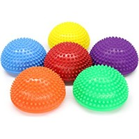 Balance Pods,ZivaTech 16cm/6.3inch Hedgehog Balancing Pods Domed Stability Pods Half Round Yoga Balance Spiky Massager Ball Stepping Stone Foot Sole Trigger Point Hemisphere
