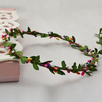 Multicolor Fruit Vine Headband