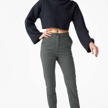 Dressy tapered trousers - Checked to perfection - Trousers & shorts - Monki GB