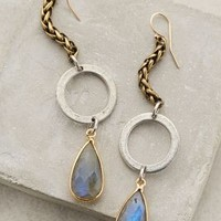 Lunar Halo Drops by Heather Kahn Grey One Size Earrings