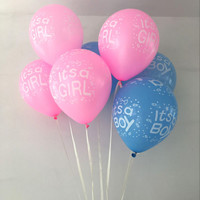Cheap 10pcs/lot It is a boy and it's a girl, baby boy latex balloons for Wedding, Birthday, Baby shower Party Decoration