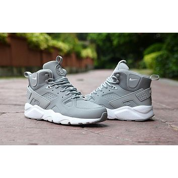 Air Huarache Run Ultra High Gray Sneaker Shoes