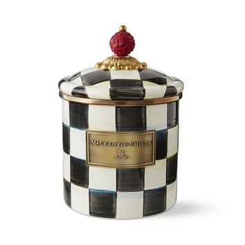 MacKenzie-Childs Courtly Check Canister