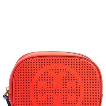 Tory Burch Perforated Leather Cosmetics Case | Nordstrom