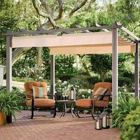 Retractable Roof Pergola - Plow & Hearth
