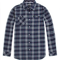 RVCA Bazz Plaid Flannel Shirt - Mens Shirts - Blue