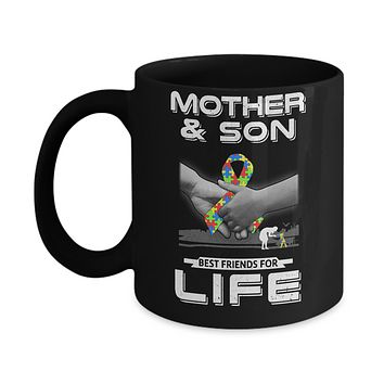 Autism Awareness Mother And Son Best Friends For Life Mug