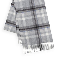 Saks Fifth Avenue BLACK - Buffalo Check Woven Cashmere Scarf