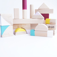 Color Dipped Wooden Blocks
