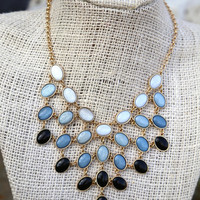 Ombre Day Necklace {Charcoal}