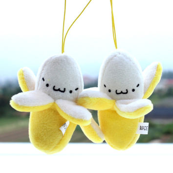 Cute Cell Phone Strap Charm Mobile Phone Straps/Kawaii Banana Plush Doll Phone Strap Pendant/Cellphone Decoration Accessories