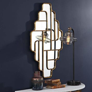 """Uttermost Vada Antiqued Gold 20 3/4"""" x 36"""" Wall Mirror - #68R49   Lamps Plus"""