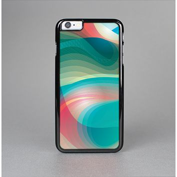 The Vivid Turquoise 3D Wave Pattern Skin-Sert for the Apple iPhone 6 Skin-Sert Case