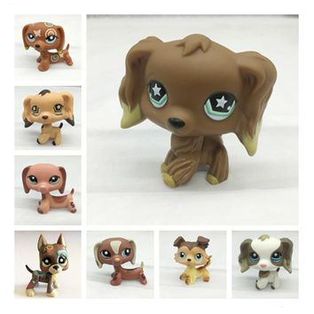 LPS Pet Shop Toys Cats and Dogs Really Collect lps Action 27 Short Hair Cats Great Dane Sausage Dog Collie Toys Collection Free