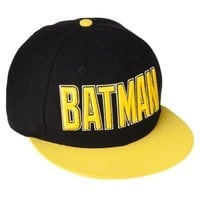Men's Batman Baseball Cap - Black/Yellow
