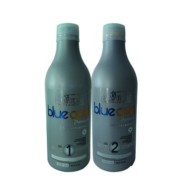 SALVATORE BLUE GOLD PREMIUM  TANINOPLASTIA KIT DE TRATAMIENTO DE PELO 2 X 500ml / 16,9fl.oz
